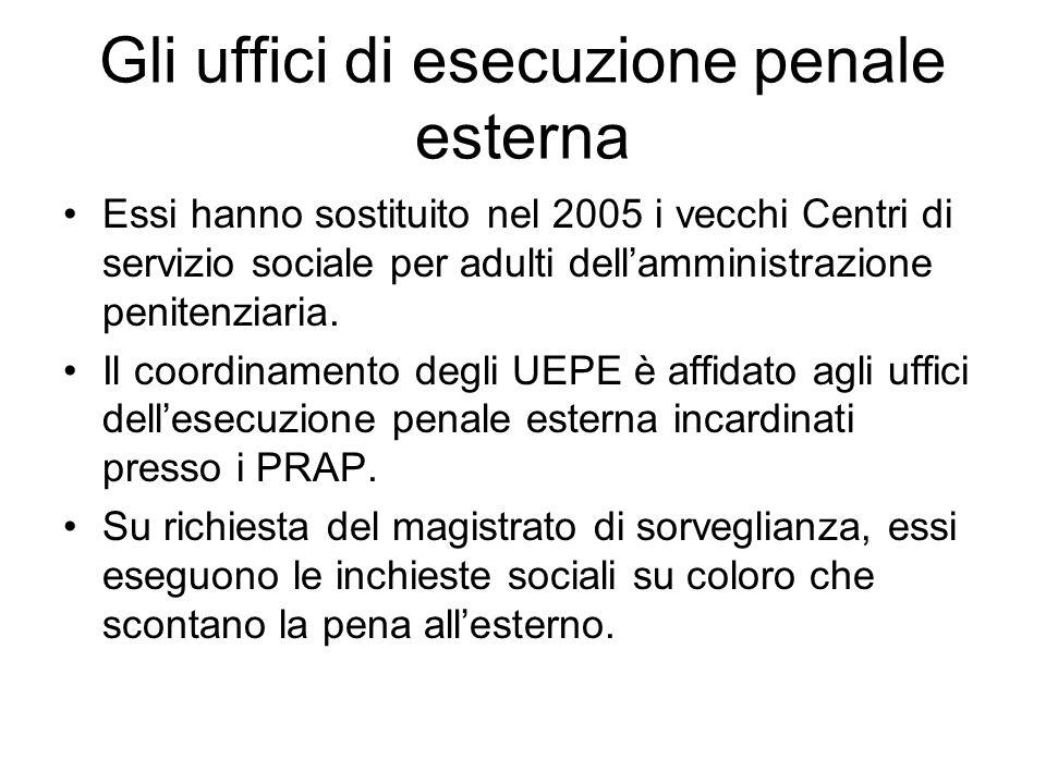 Gli uffici di esecuzione penale esterna