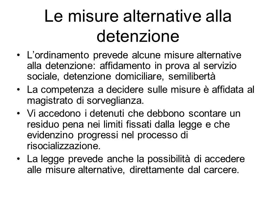 Le misure alternative alla detenzione