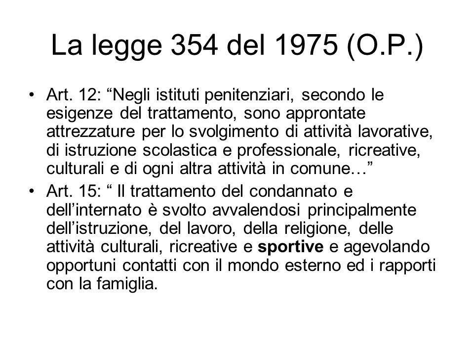 La legge 354 del 1975 (O.P.)