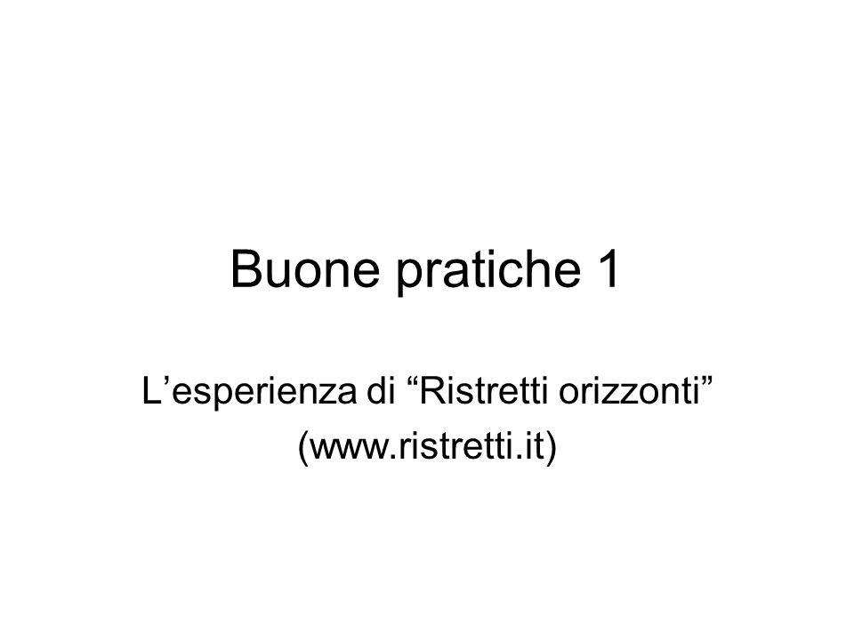 L'esperienza di Ristretti orizzonti (www.ristretti.it)