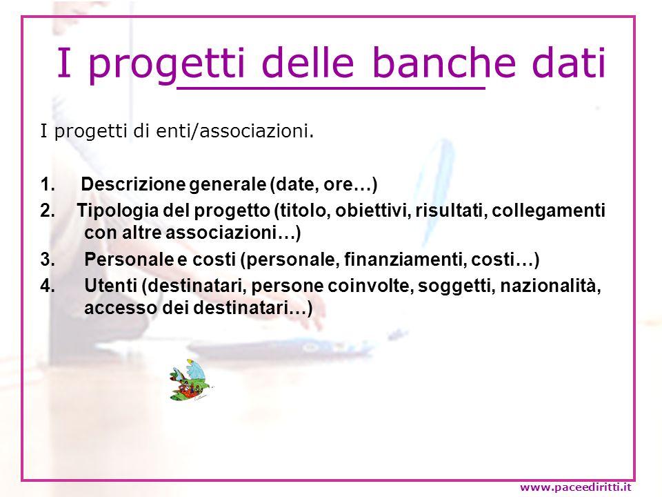 I progetti delle banche dati