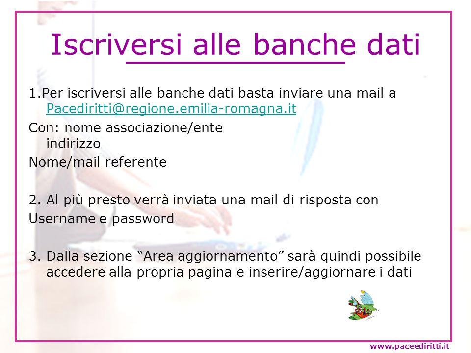 Iscriversi alle banche dati