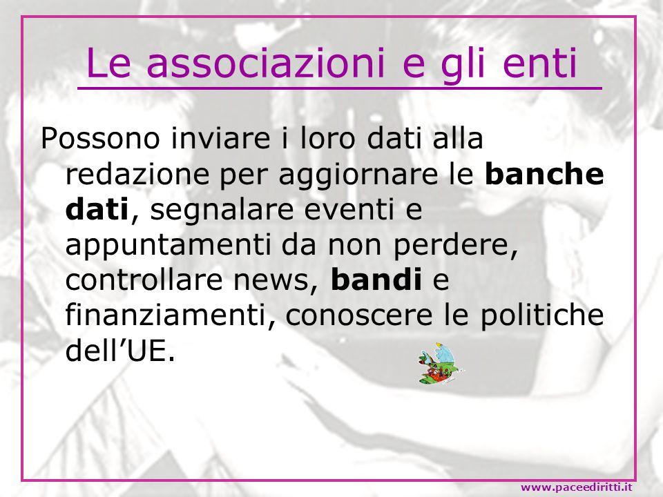 Le associazioni e gli enti