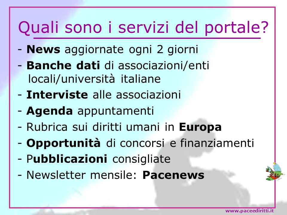 Quali sono i servizi del portale