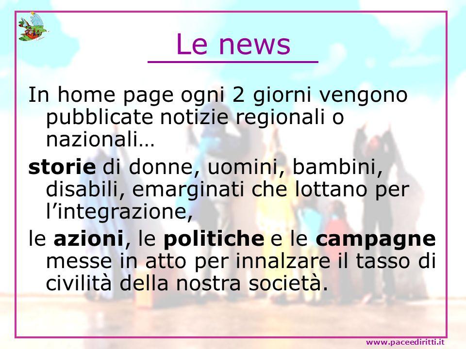 Le news In home page ogni 2 giorni vengono pubblicate notizie regionali o nazionali…