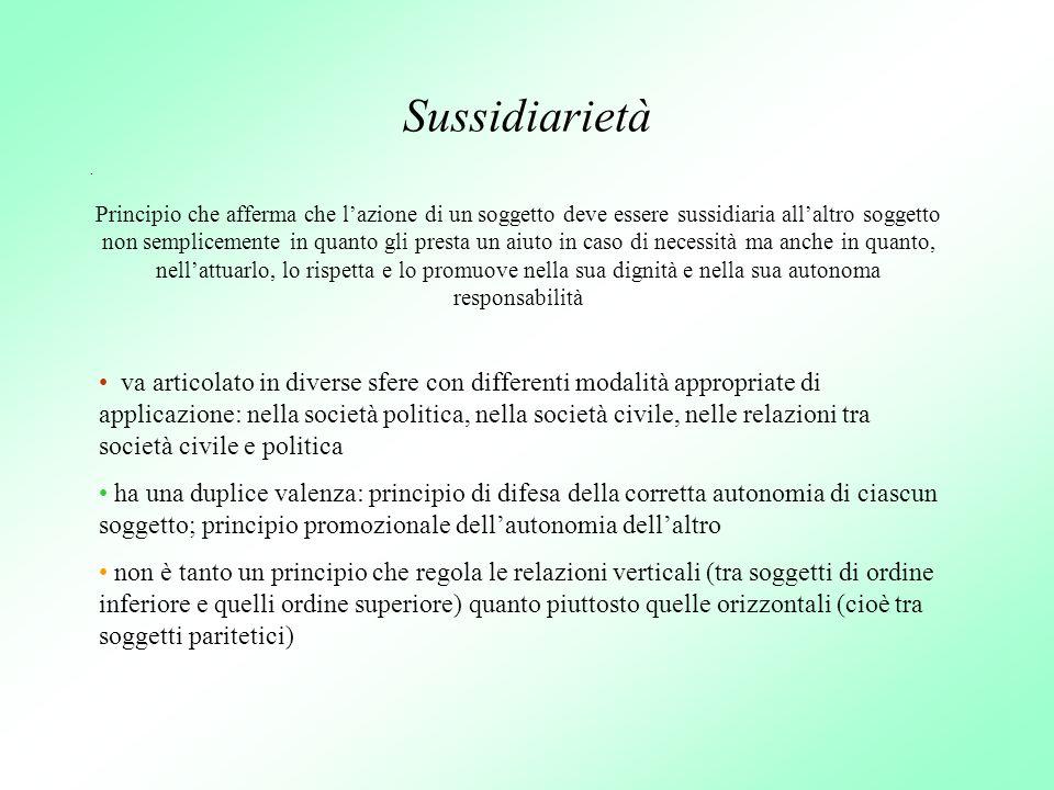Sussidiarietà .