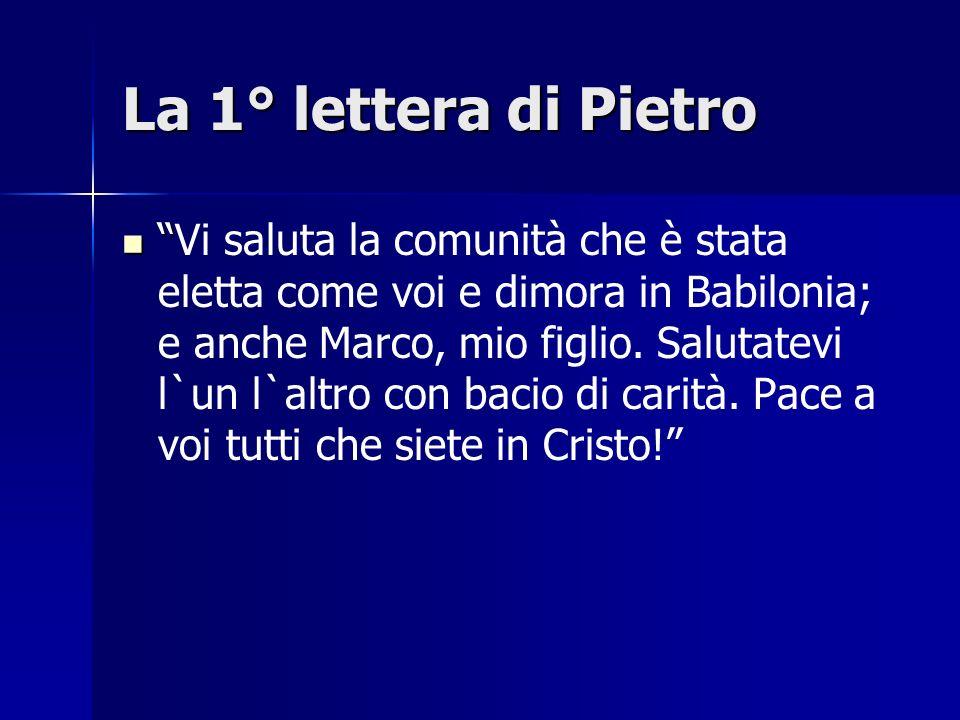 La 1° lettera di Pietro