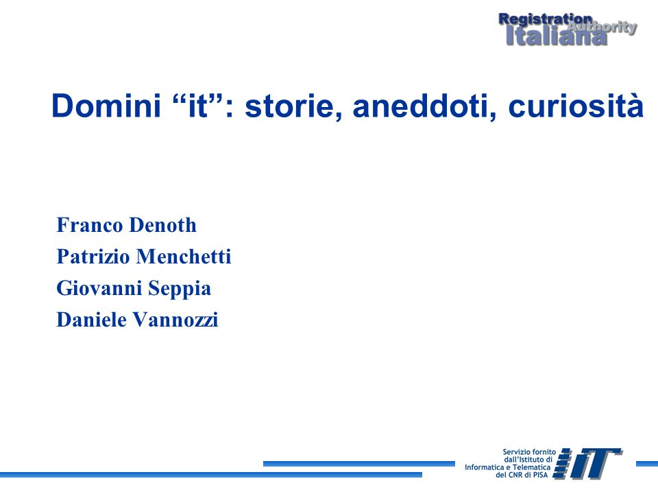 Domini it : storie, aneddoti, curiosità