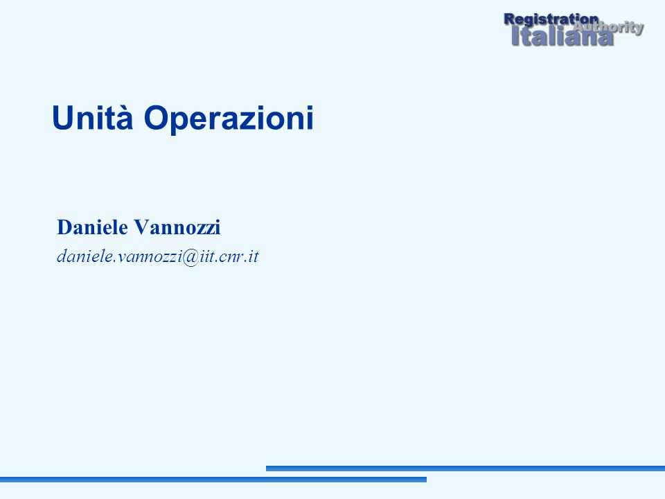 Daniele Vannozzi daniele.vannozzi@iit.cnr.it