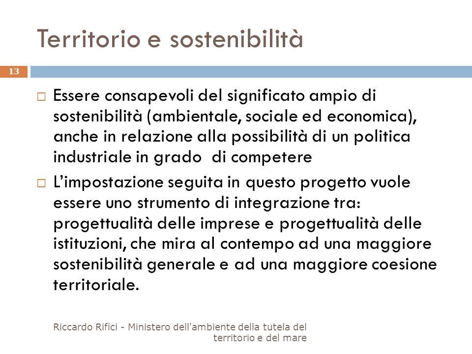 Territorio e sostenibilità