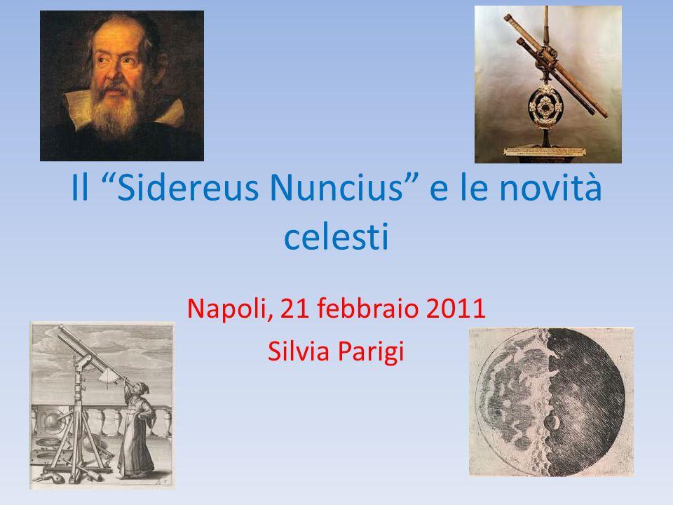 Il Sidereus Nuncius e le novità celesti