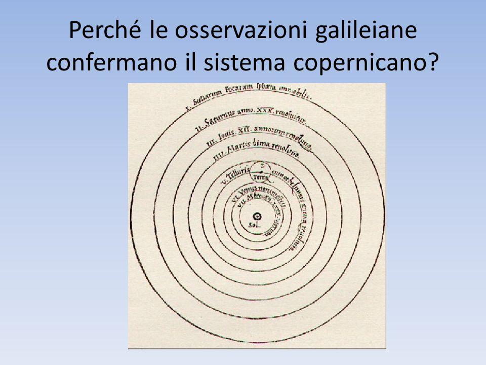 Perché le osservazioni galileiane confermano il sistema copernicano