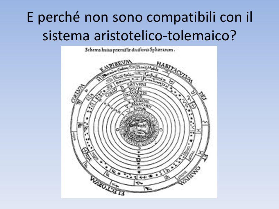 E perché non sono compatibili con il sistema aristotelico-tolemaico