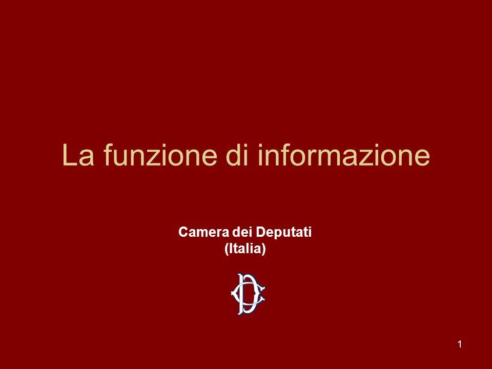 La funzione di informazione
