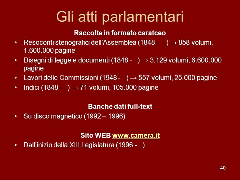 Raccolte in formato caratceo