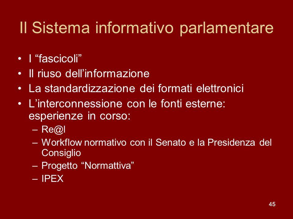 Il Sistema informativo parlamentare