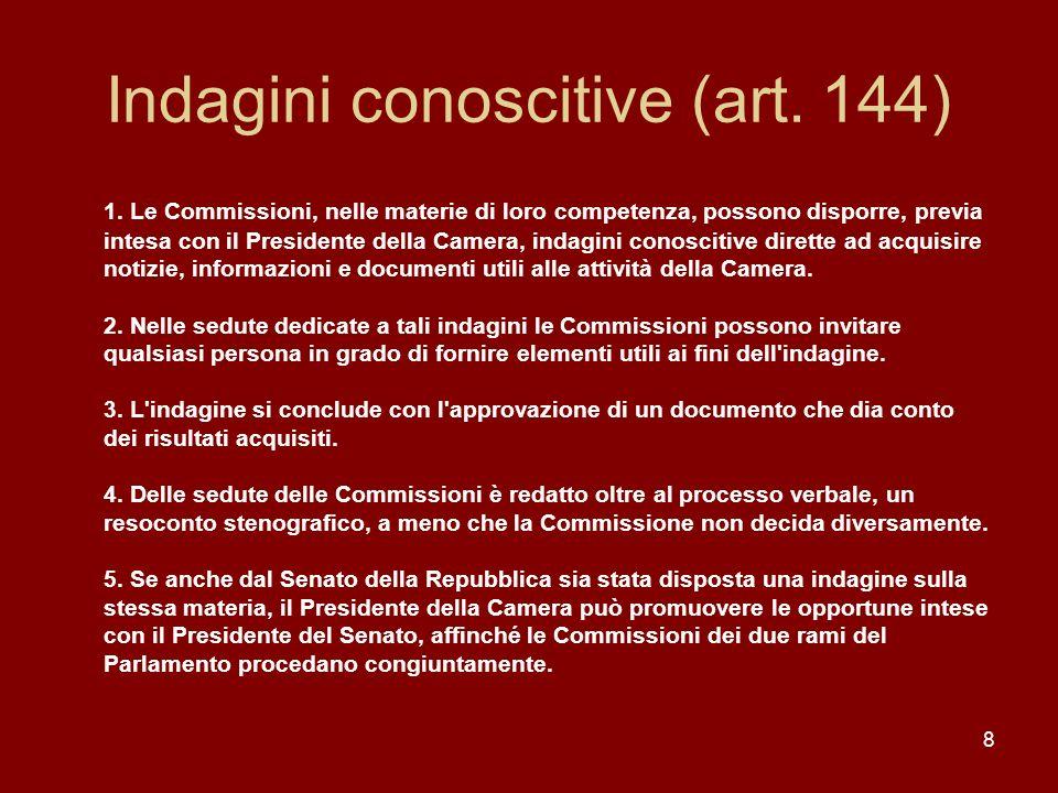 Indagini conoscitive (art. 144)