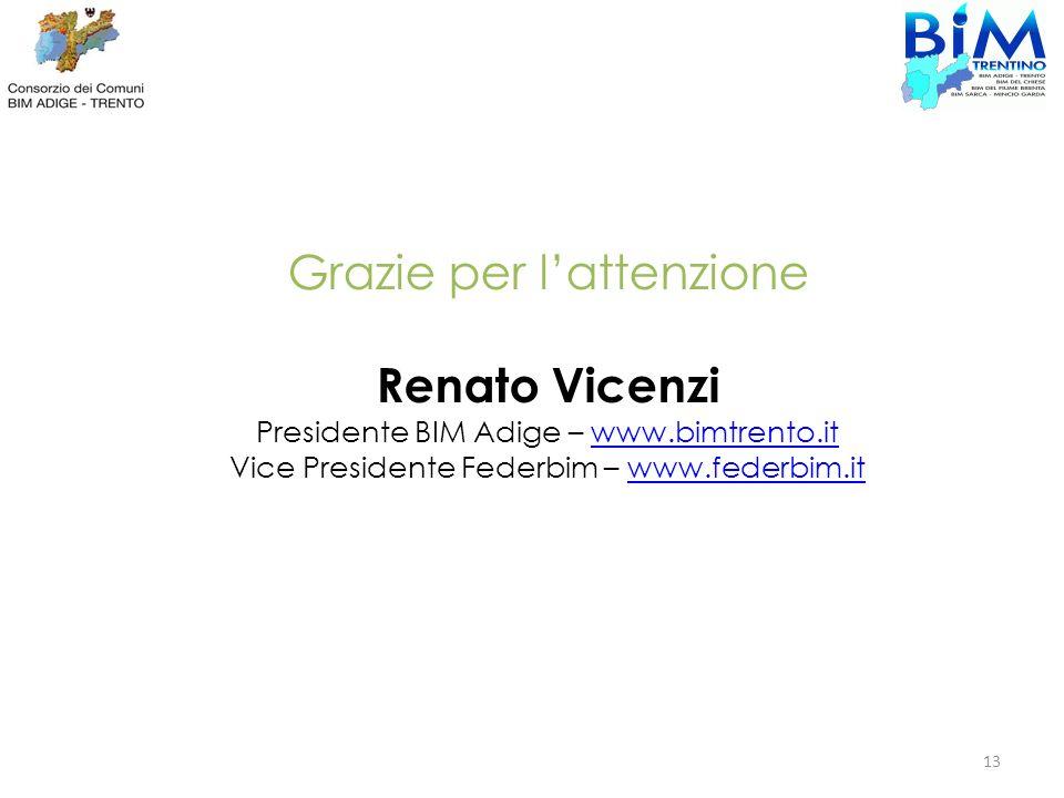 Grazie per l'attenzione Renato Vicenzi