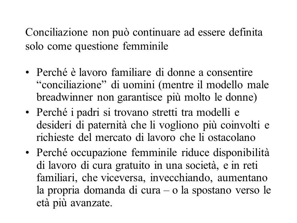Conciliazione non può continuare ad essere definita solo come questione femminile