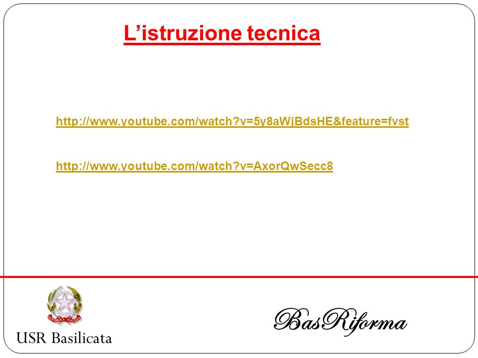 BasRiforma L'istruzione tecnica USR Basilicata