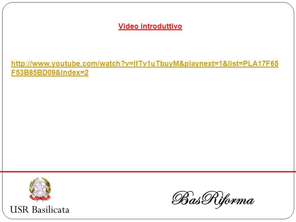 BasRiforma USR Basilicata Video introduttivo