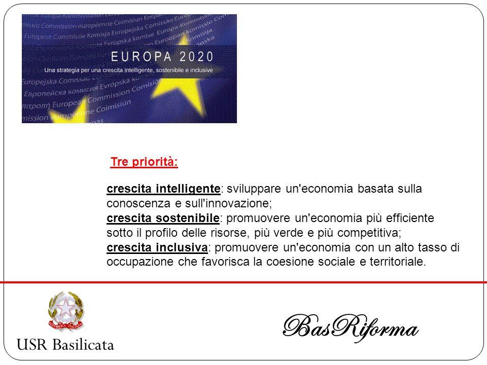 BasRiforma USR Basilicata Tre priorità: