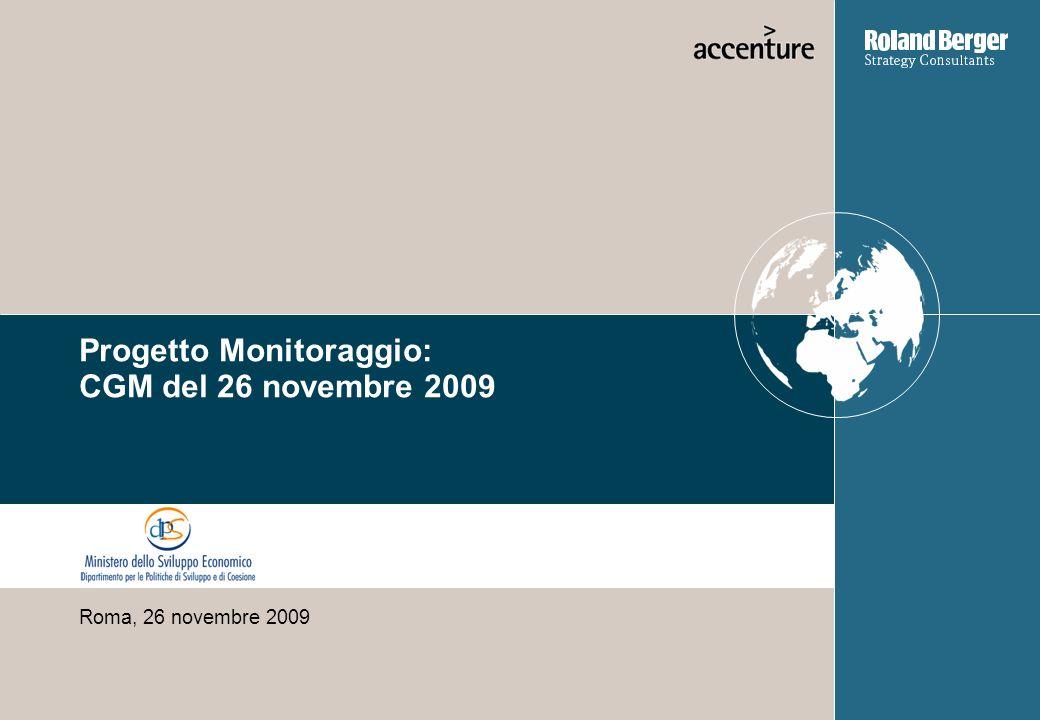 Progetto Monitoraggio: CGM del 26 novembre 2009