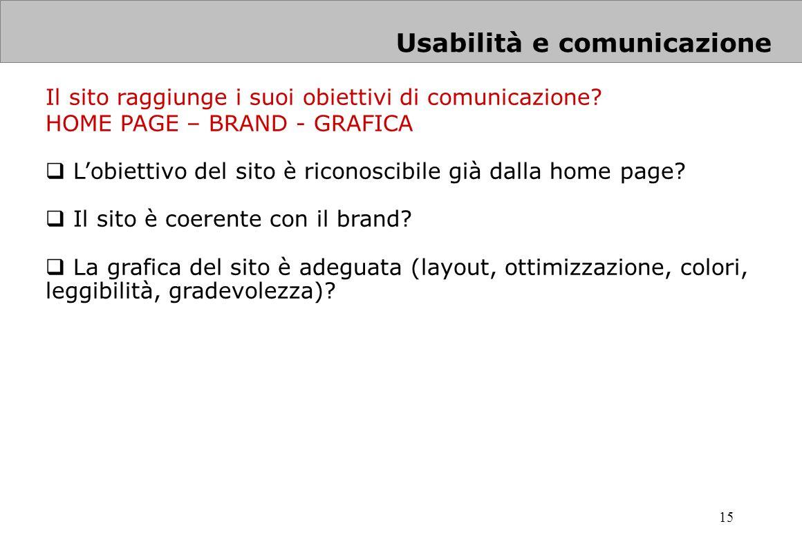 Usabilità e comunicazione
