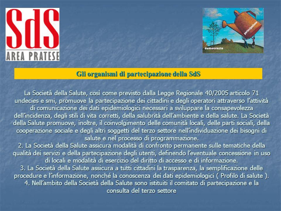 Gli organismi di partecipazione della SdS