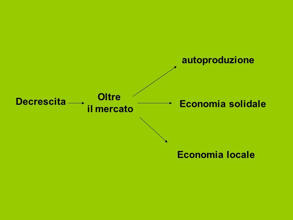 autoproduzione Oltre il mercato Decrescita Economia solidale Economia locale