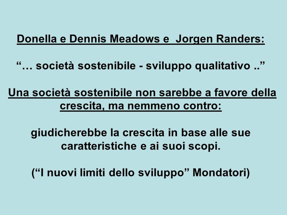 Donella e Dennis Meadows e Jorgen Randers: