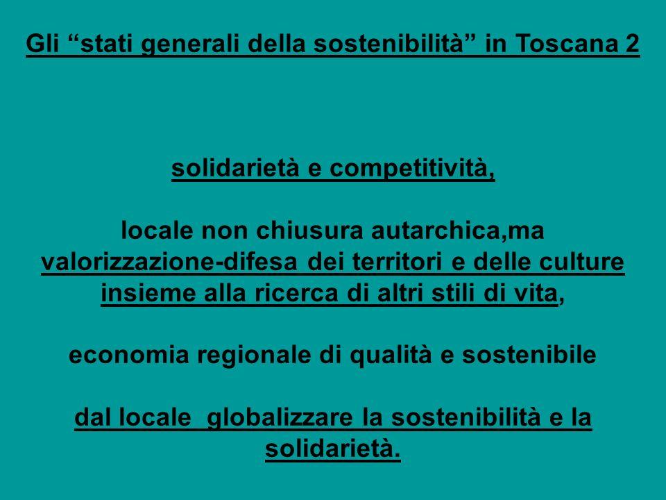 Gli stati generali della sostenibilità in Toscana 2