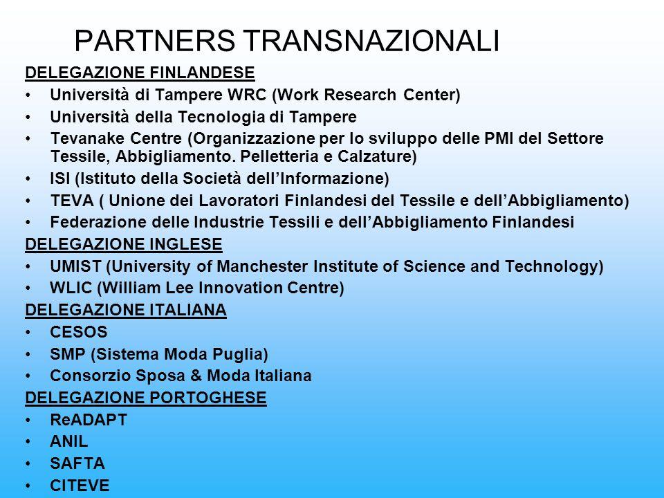 PARTNERS TRANSNAZIONALI
