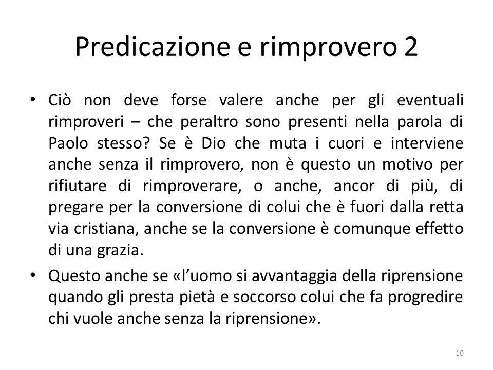 Predicazione e rimprovero 2