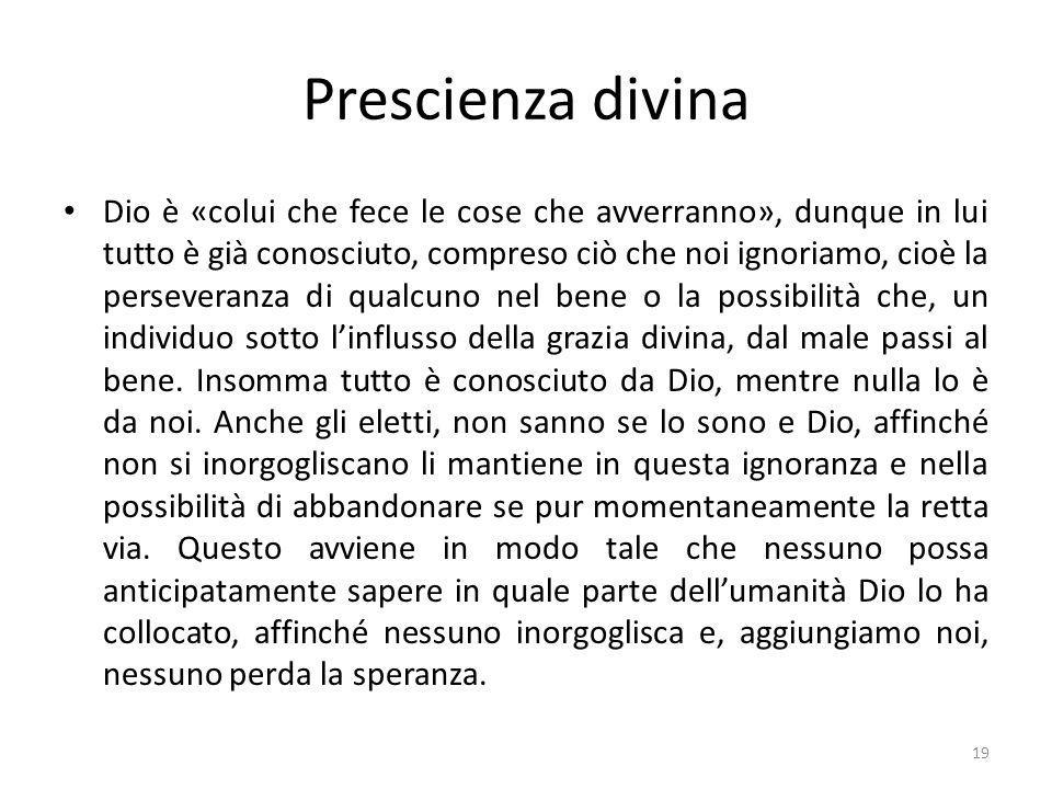 Prescienza divina