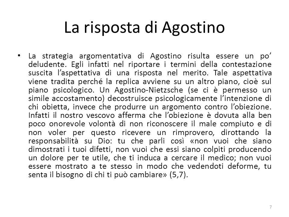 La risposta di Agostino