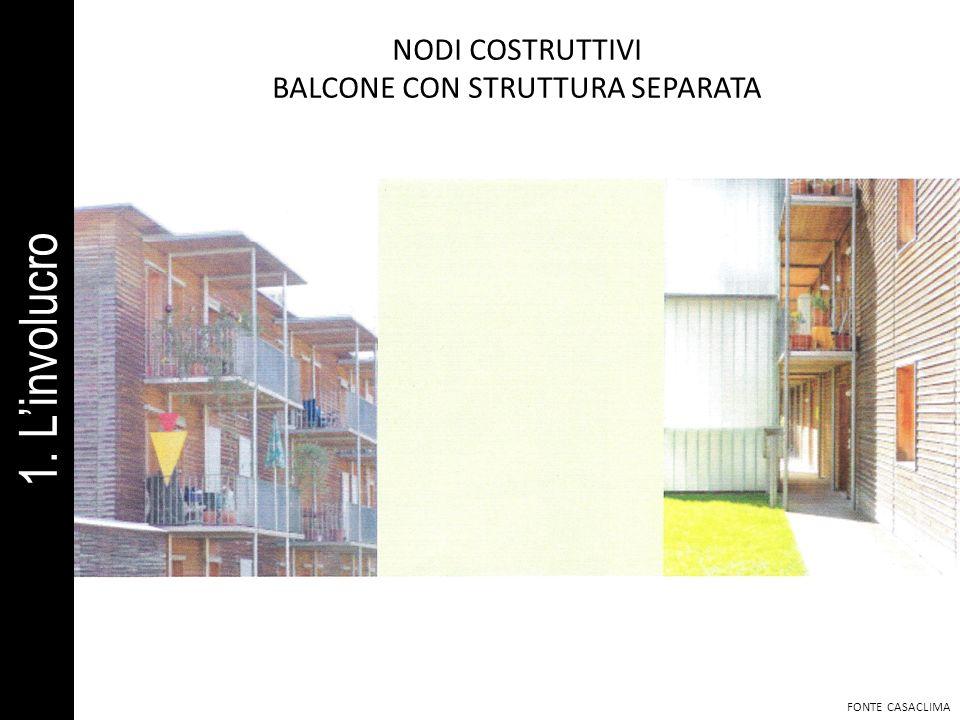 BALCONE CON STRUTTURA SEPARATA