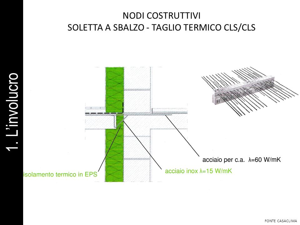 SOLETTA A SBALZO - TAGLIO TERMICO CLS/CLS