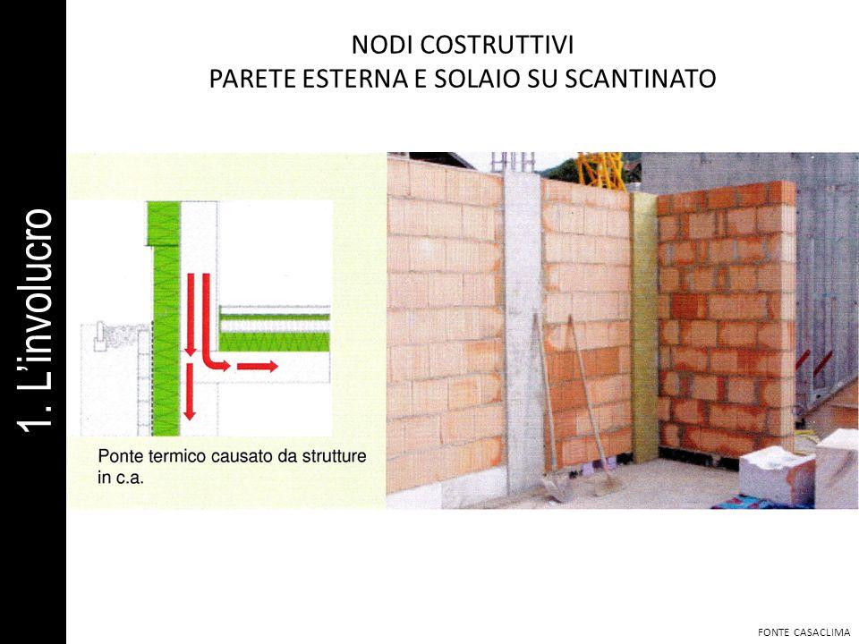 PARETE ESTERNA E SOLAIO SU SCANTINATO