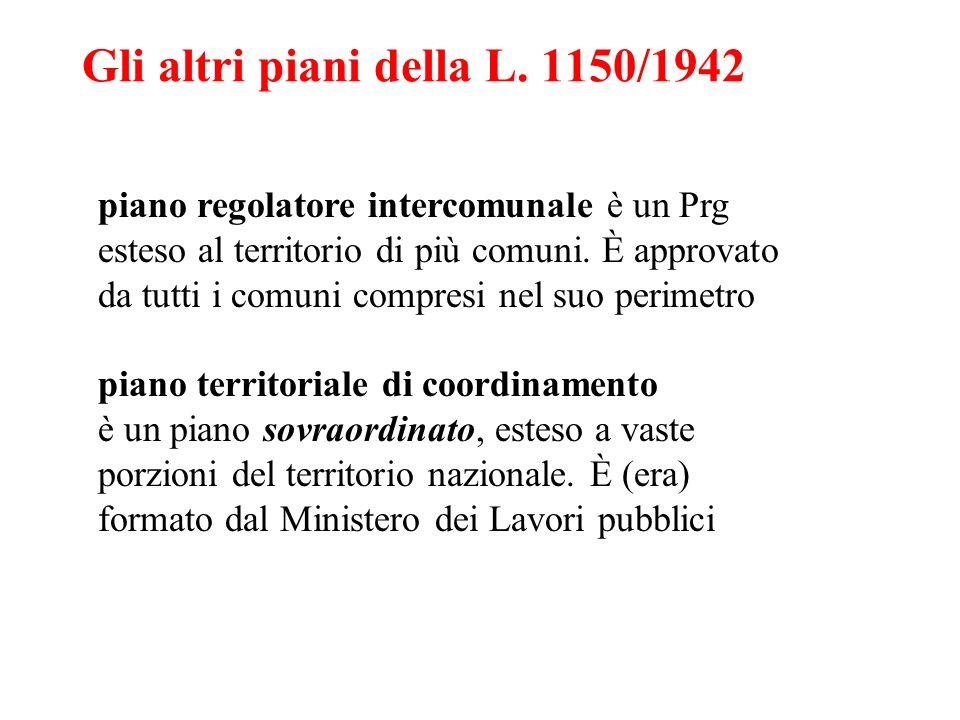 Gli altri piani della L. 1150/1942