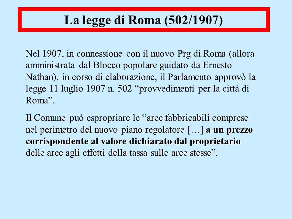 La legge di Roma (502/1907)