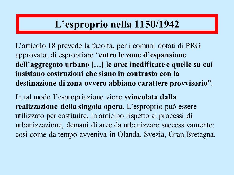 L'esproprio nella 1150/1942