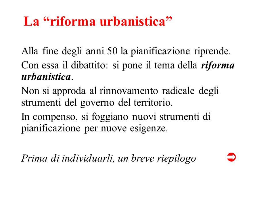 La riforma urbanistica