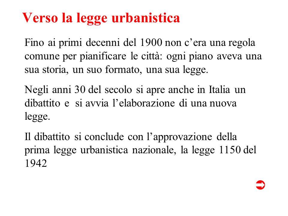 Verso la legge urbanistica