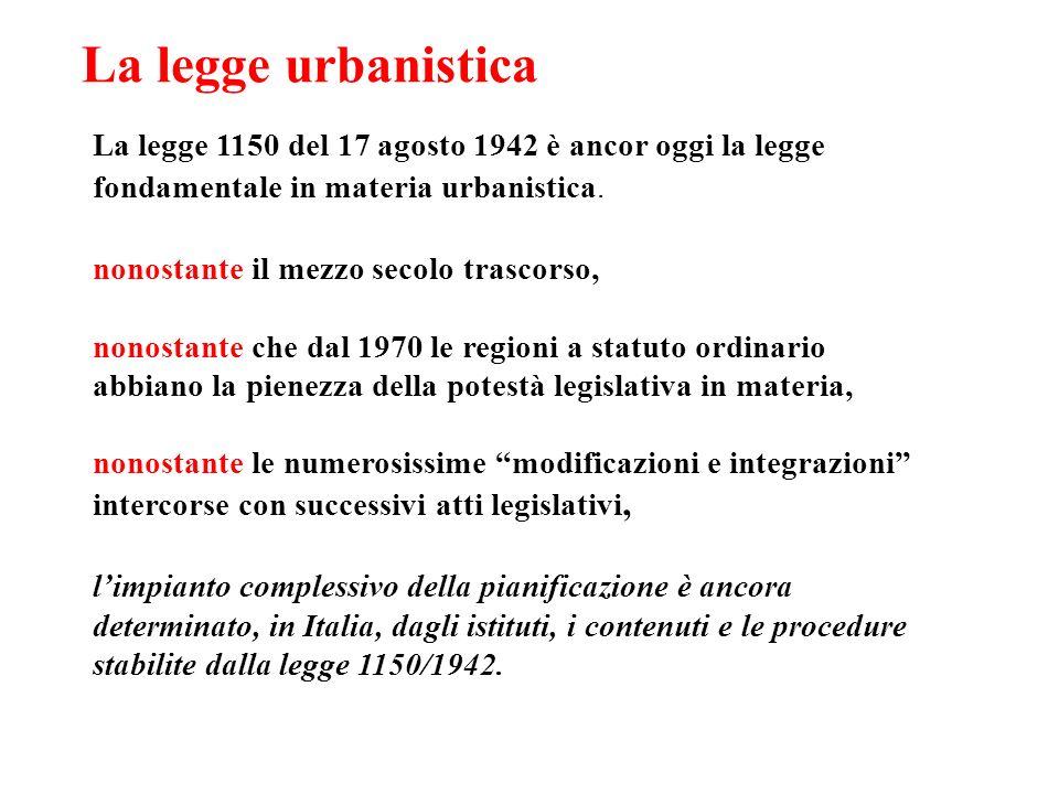 La legge urbanistica