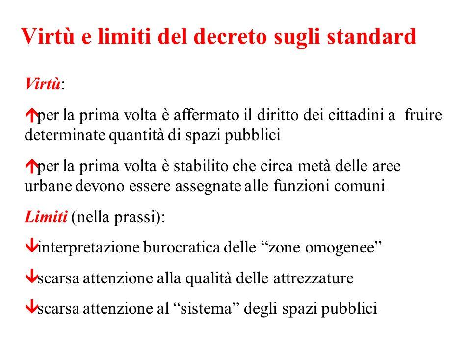 Virtù e limiti del decreto sugli standard