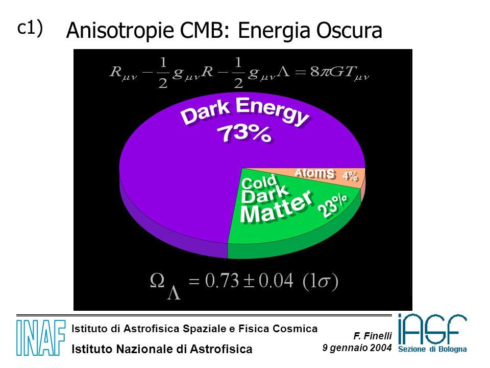 Anisotropie CMB: Energia Oscura