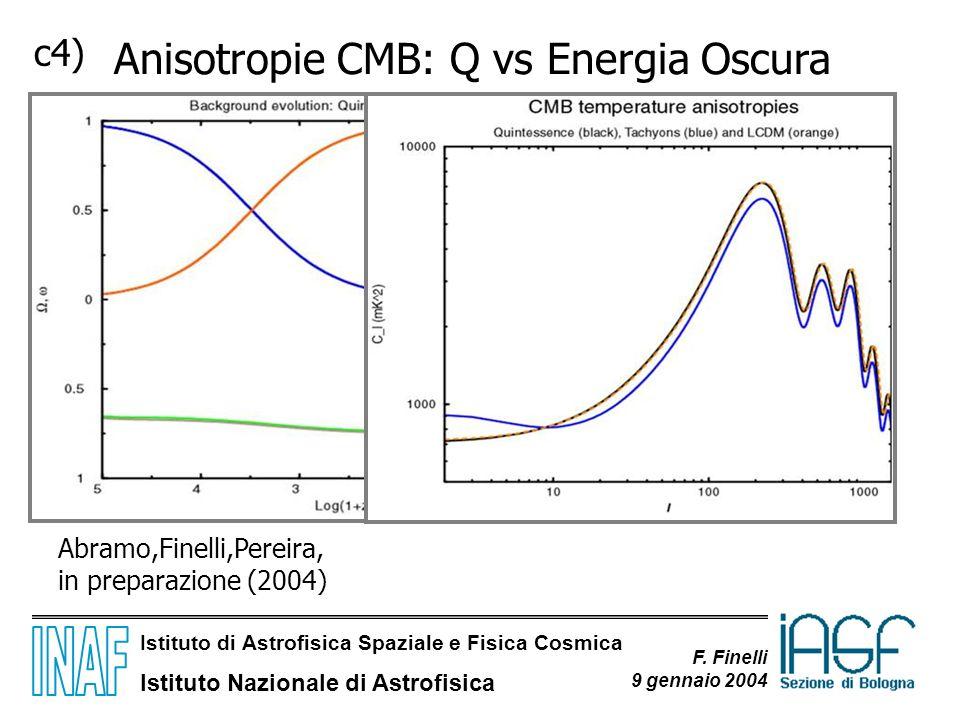 Anisotropie CMB: Q vs Energia Oscura