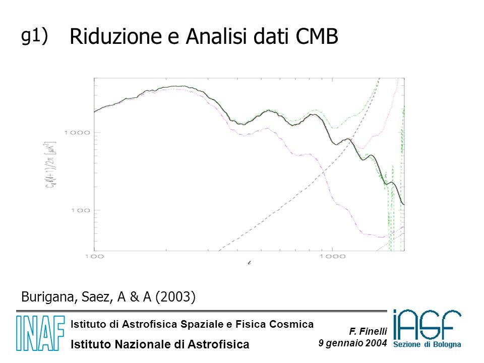 Riduzione e Analisi dati CMB