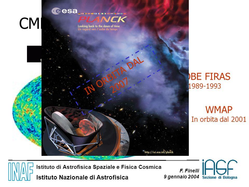 CMB IN ORBITA DAL 2007 COBE FIRAS 1989-1993 WMAP In orbita dal 2001